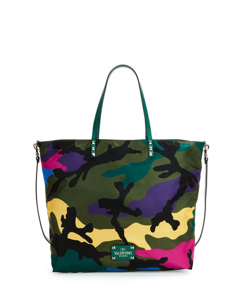 Valentino nylon camo-print tote bag available at NET-A-PORTER