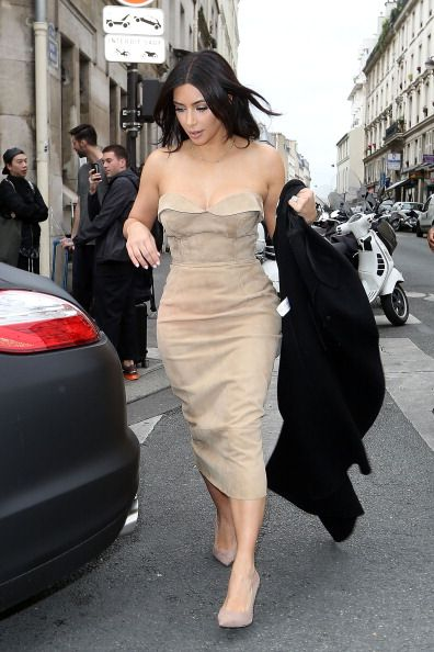 Kim Kardashian Sighting In Paris