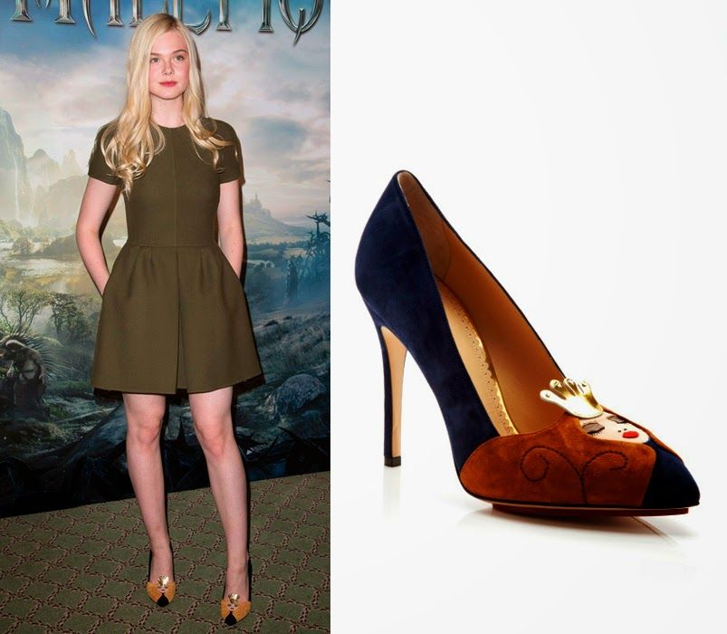 Elle-Fanning-charlotte-olympia-sleeping-beauty-suede-pumps-maleficient-premiere