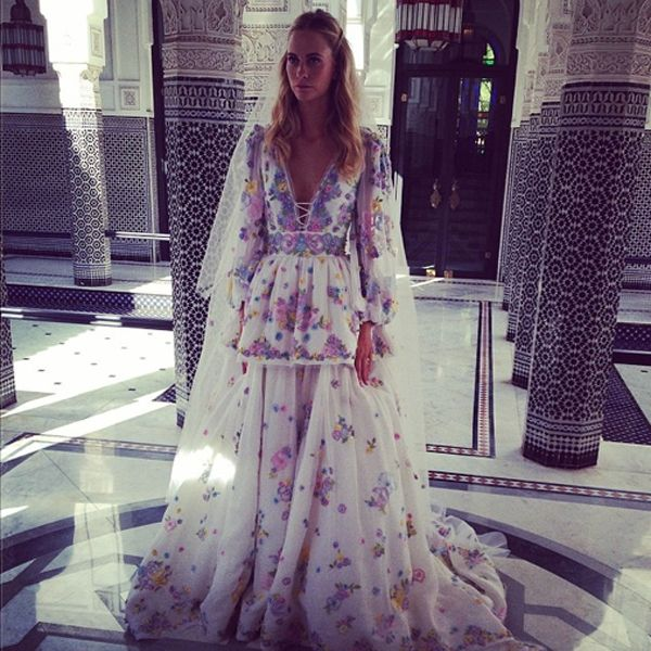 Poppy-Delevingne-in emilio-pucci-second-wedding-morocco