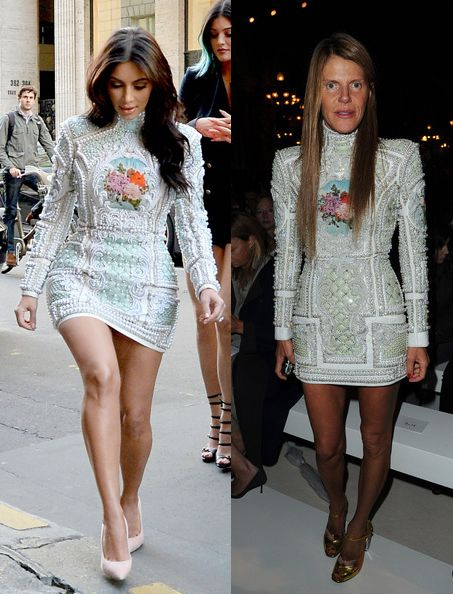 kim-kardashian-anna-dello-russo-sexy-short-Balmain-fall-2012-13-dress