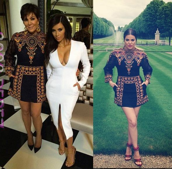 kris-jenner-khloe-kardashian-at-chateu-valentino-brunch-wearing-same-valentino-ss14-dress