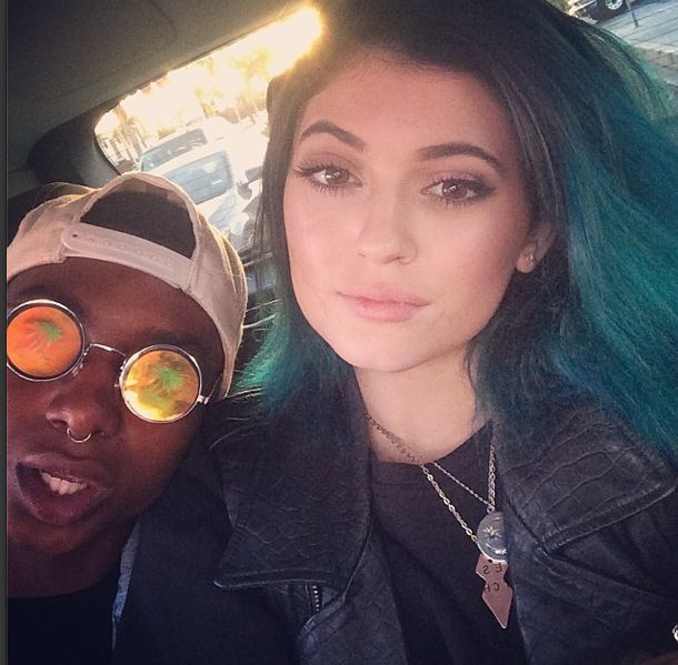 Kylie Jenner is been sharing her gradual blue do with all of her Instagram followers.
