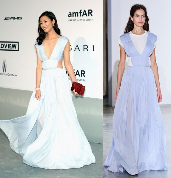 But the one I am in love with is Liu Wen in Vionnet SS14