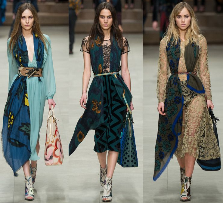 See what I'm talking about? Straight from Burberry Fall/Winter 2014-15 runway