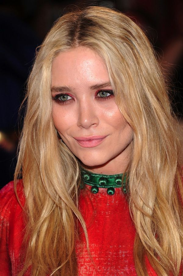 Mary-Kate Olsen with pink lips and red eye-shadow at Met Gala 2011