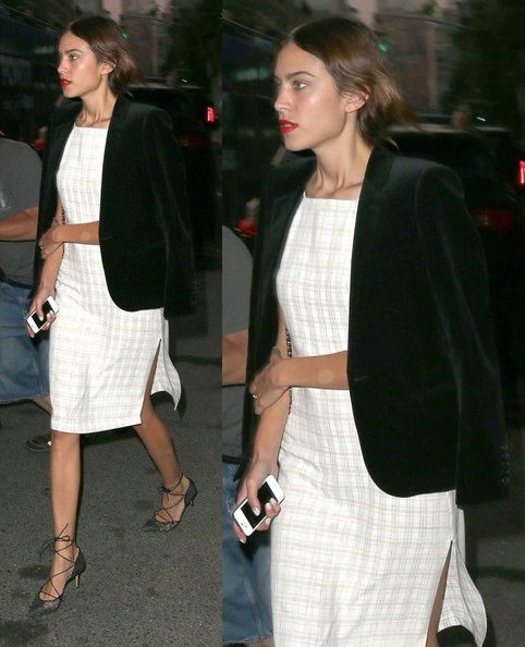 Alexa Chung seen leaving The Bowery Hotel in New York City