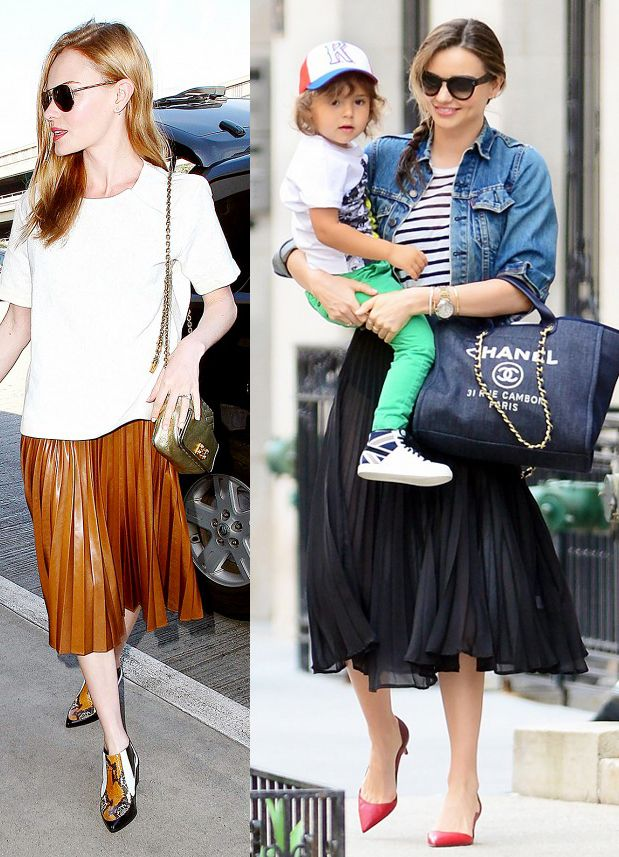 kate-bosworth-miranda-kerr-pleated-skirts-looks-spring-2014