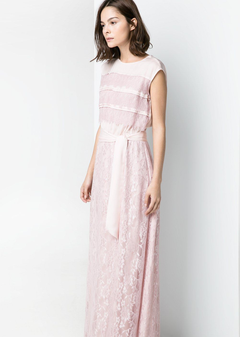 7 affordable pink long dresses to wear to a wedding laiamagazine mango floral long dress ombrellifo Choice Image