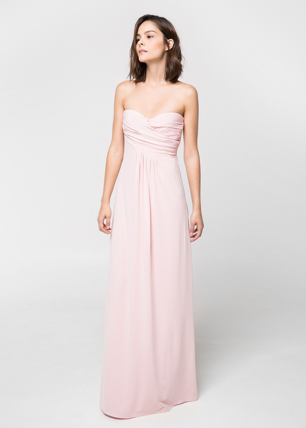 7 affordable pink long dresses to wear to a wedding laiamagazine mango pink blush draped gown ombrellifo Choice Image