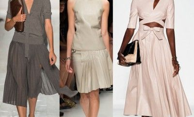 pleated-skirts-ss14-monochromatic-looks