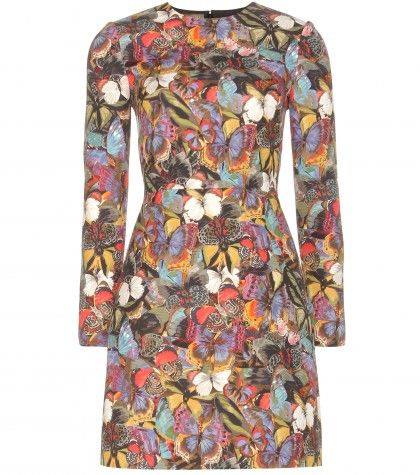 Valentino-Butterfly-printed-wool-and-silk-blend-dress