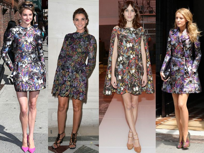 Shailene Woodley, Clotilde Coireau, Alexa Chung and Blake Lively all in Valentino Pre-Fall 2014