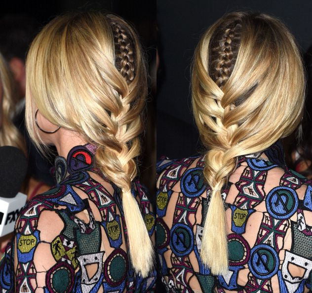 We love her braid within a braid hairstyle!