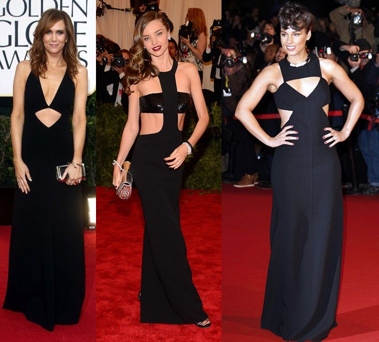 Kors is a true master on custom mading cut-out gowns for the red carpet (Kristen Wiig, Mitanda Kerr and Alicia Keys are prove to it)