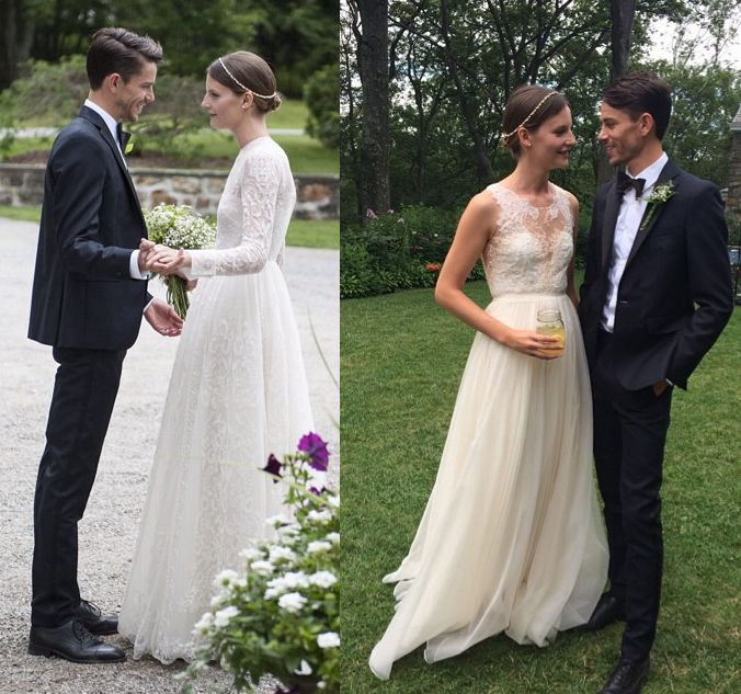 Model Sara Blomqvist Valentino Wedding Dresses Swedish
