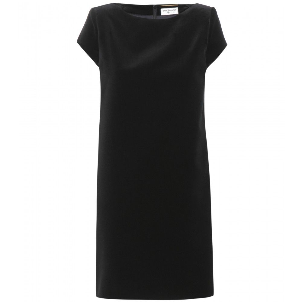6- Saint Laurent black velvert dress
