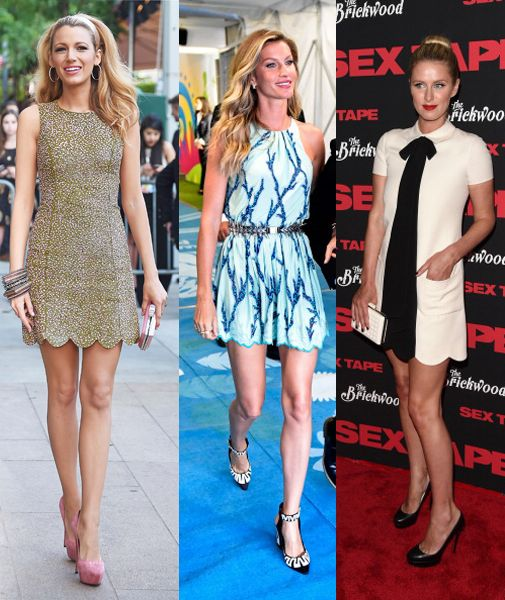 Blake Lively in Michael Kors, Gisele Bündchen in Louis Vuitton and Nicky Hilton in Valentino