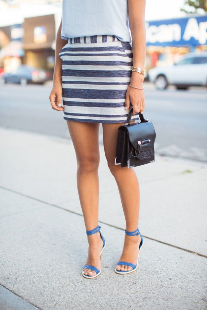 song_of_style_blue_striped_skirt_tibi_heels