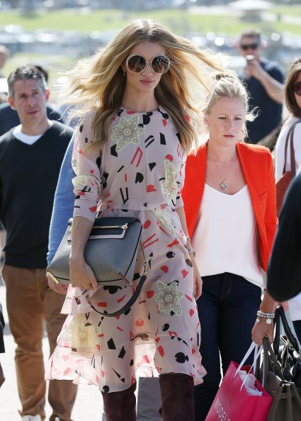 Rosie Huntington-Whiteley Visits Icebergs Restaurant At Bondi