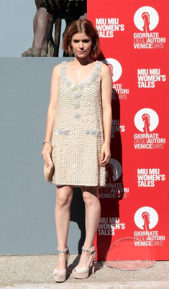 We are absolutely in love with Kate Mara's bejeweled mini dress!
