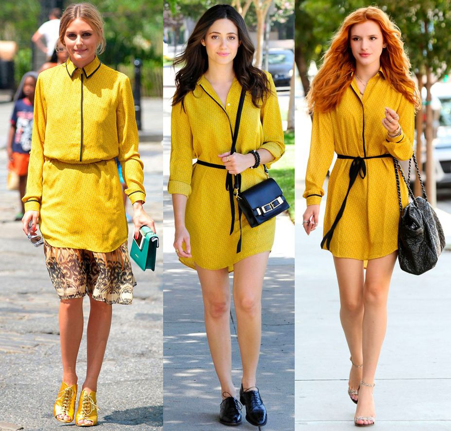 Loft yellow shirt dress