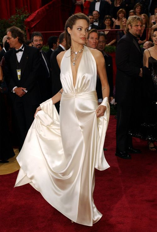 Angelina at the 2014 Oscars in a Marc Bowen gown