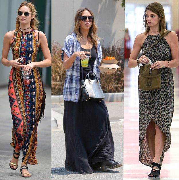 Celebrities are wearing: summer maxi dresses - LaiaMagazine