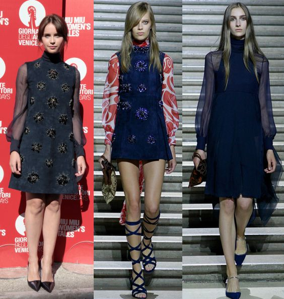 Felicity Jones in Miu Miu Resort 2015 at Miu Miu Women's Tales première 2014 Venice Film Festival