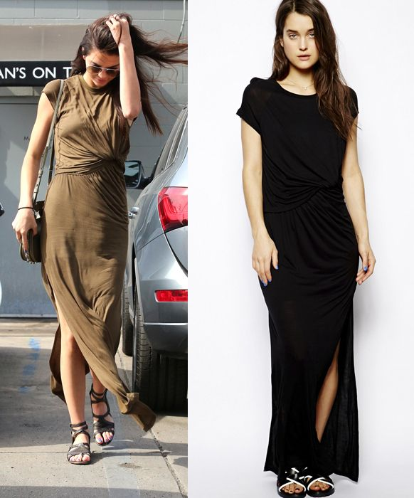 kendall-jenner-wearing-eleven-paris-maxi-dress-with-notch-detail