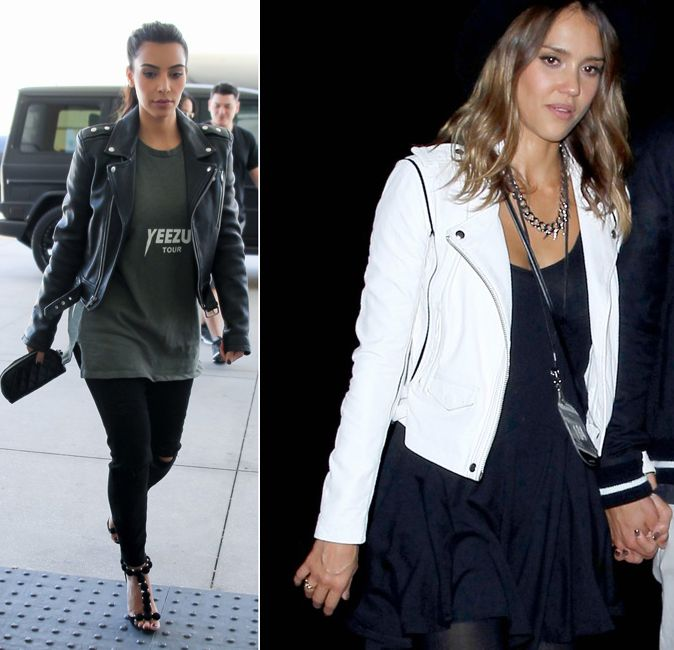 kim-kardashian-jessica-alba-black-and-white-leather-biker-jackets
