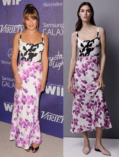 Lea Michele in Narciso Rodriguez Resort 2015