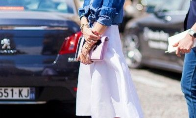 olivia-palermo-denim-shirt-skirt