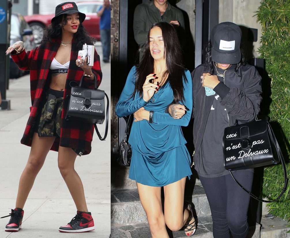 Rihanna and Adriana Lima enjoy a sushi dinner at KOI