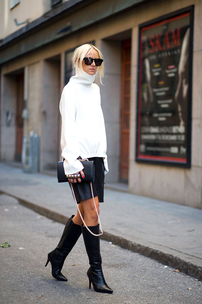 How To Wear A Cozy Sweater Before Fall Like A Swedish Pro Fw Stockholm Street Style Laiamagazine