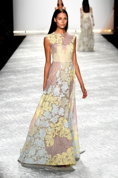 Monique Lhuillier - Runway - Mercedes-Benz Fashion Week Spring 2015