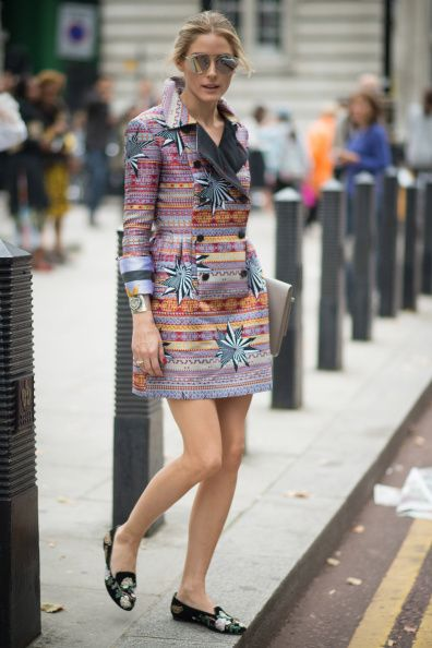 Olivia Palermo seen in the streets of London during London Fashion Week Spring Summer 2015