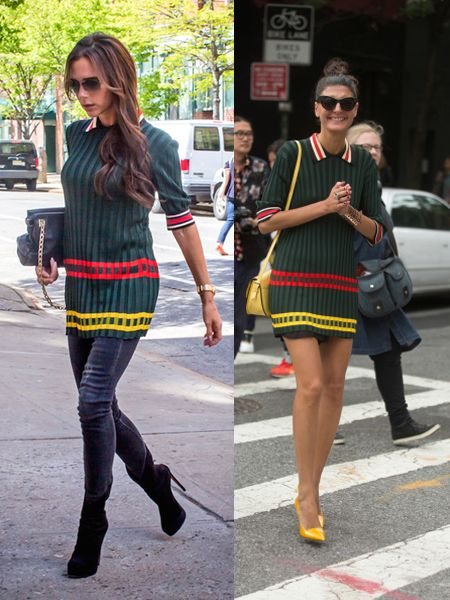 Victoria Beckham brings color to the Big Apple streets **USA, UK, Australia ONLY**