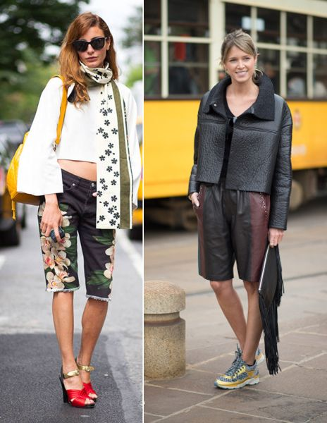 Bemuda shorts anyone? Just like Eçe Sukan and Helena Bordon during Fashion Weeks SS15