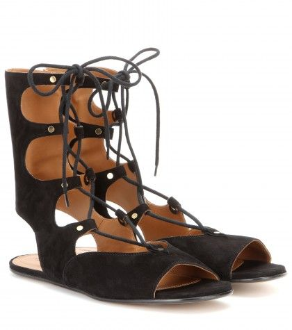 Lace up suede gladiator sandals available at MYTHERESA.com