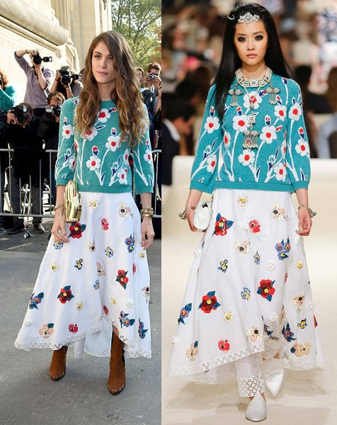 Chanel Fashion Show 2014 Summer Elisa Sednaoui in Chanel