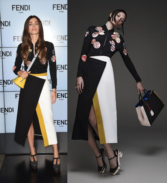 Elisa Sednaoui in Fendi Resort 2015