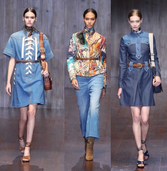 Gucci Spring Summer 2015 collection goes denim