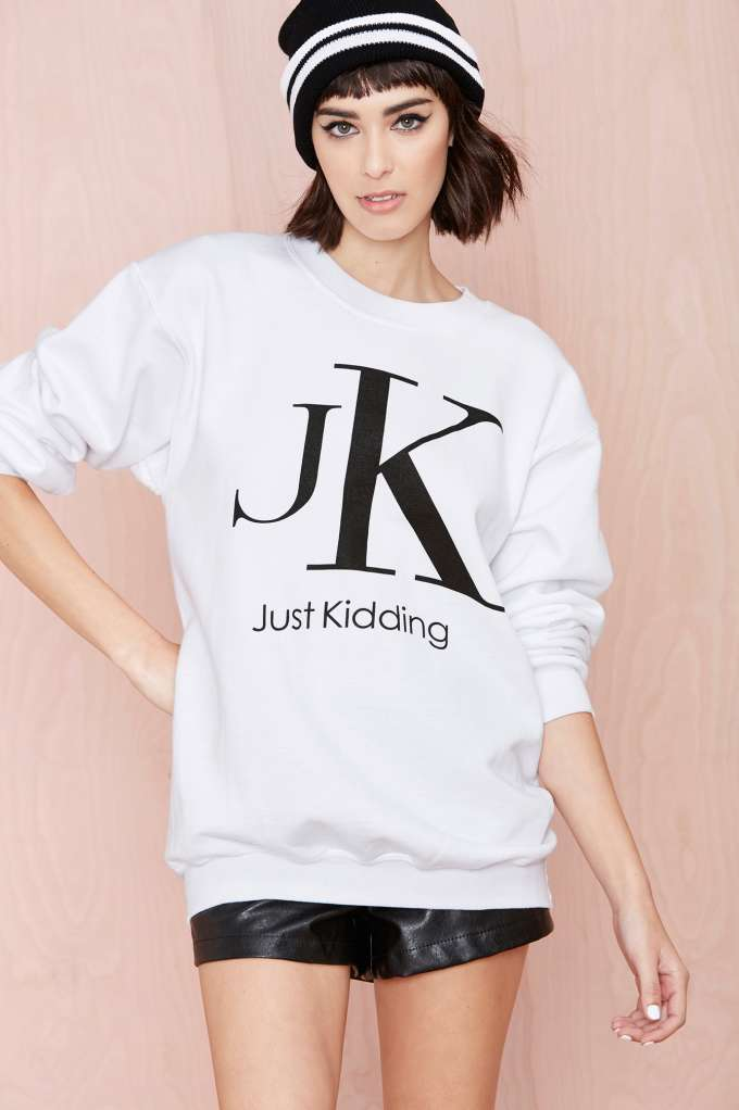 nasty-gal-just-kidding-sweatshirt