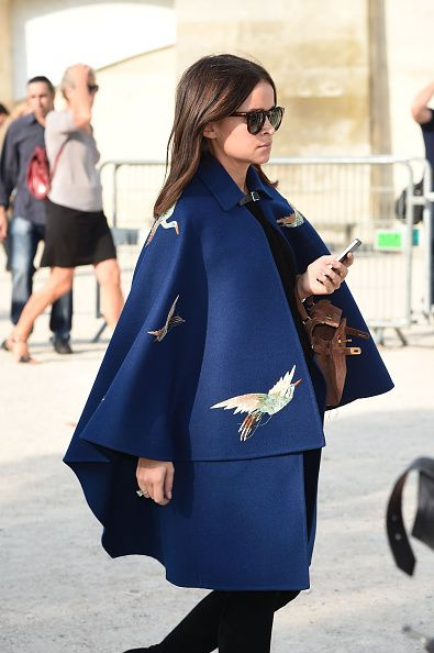 Miroslava Duma in Valentino FW14 at the Elie Saab SS15 Paris Fashion Show