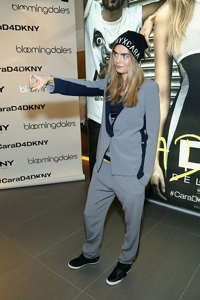 Cara Delevingne For DKNY Launch At Bloomingdale's