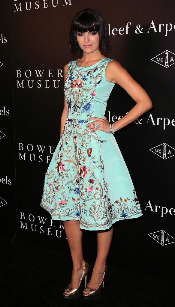 Camilla-Belle-Oscar-de-la-Renta-embroidered-floral-a-line-dress
