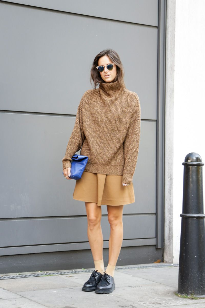 How to wear chunky sweaters without looking fat