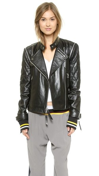 cara-delevingne-x-dkny-leather-moto-jacket