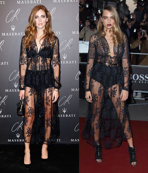 chiara-ferragni-cara-delevingne-burberry-fw14-sheer-lace-dress